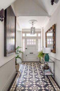 Otta Design   Interior Design   Battersea   South West London   Ealing   West LondonOtta Design Victorian Hallway Tiles, Tiled Hallway, Hallway Flooring, Modern Hallway, 1930s Hallway, Blue Hallway, Entrance Hall Decor, Hallway Ideas Entrance Narrow, House Entrance