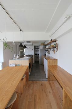 KITCHEN/キッチン/フィールドガレージ/FieldGarage INC./リノベーション Kitchen Design Open, Open Kitchen, Kitchen Dinning, Dining Room, Home Ceiling, Japanese House, Sofa Design, Home Renovation, Kitchen Interior
