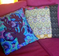 Mountain Quiltworks:  Deer Pillow with Phillip Jacobs and Tula Pink and Anna Marie Horner fabrics