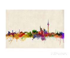 Berlin Germany Skyline Fotografie-Druck