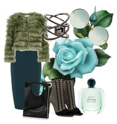 """""""Positive green"""" by sofiacalo ❤ liked on Polyvore featuring Collectif, Alice + Olivia, Alix, Eva Fehren and Linda Farrow"""