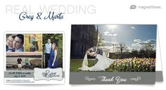 Wedding Save the Date & Wedding Thank You Card