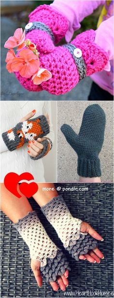 10 Crochet Mittens Patterns To Warm Your Hands For Winter - Pondic