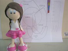 FOFUCHA NIÑA FALDA EN DOS CAPAS CON MOLDES O PATRONES PARTE 1 DE 2 Foam Crafts, Diy Crafts, Sewing Dolls, Quilling, Princess Peach, Doll Clothes, Cool Stuff, Milla, Image Search
