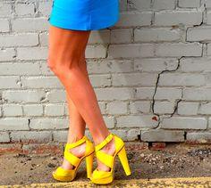 Neon Yellow Jimmy Choos