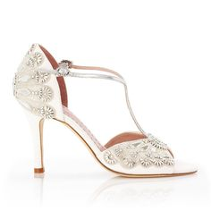 Cinderella Sandal with Crystal Embroidery @ Emmy Shoes.. this is my wedding shoe!!