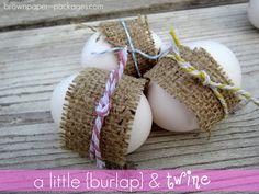 Burlap & Twine Easter Eggs