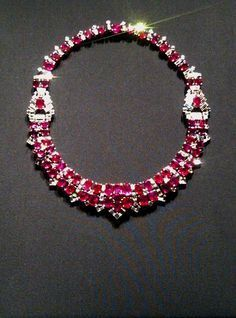 CARTIER~ RUBY AND DIAMOND NECKLACE                                                                                                                                                                                 More