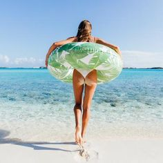 It's float time ? Beach Images, Beach Pictures, Offshore Wind, Pool Floats, Tropical Vibes, Leaf Prints, Summer Vibes, Surfing, Swimming
