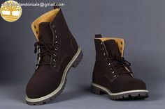 Custom Timberland 6 Inch Navy Brown Discount Premium Mens Boots $90.99