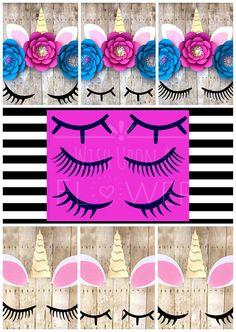 Unicorn Eyelash Template, 3 Unicorn Lashes, Unicorn SVG, Unicorn Backdrop Decoration, Unicorn Face, Unicorn Eyelashes, Unicorn Eyelashes Svg