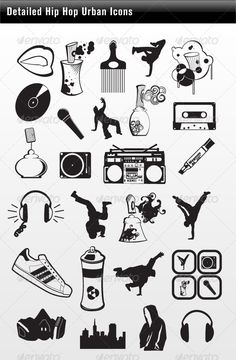 Detailed Hip Hop Icons #GraphicRiver 26 Hip Hop Urban Icons Detailed Hip Hop Urban Icon Set • These are editable vector files. Attached ZIP folder contains: • EPS vector file is saved in file format EPS v. 8 • AI (Illustrator CS5) • PSD (Photohops CS5 PLEASE RATE AND VIEW MY OTHER ITEMS Thank you! please contact me for any issues with my products! Created: 11May13 GraphicsFilesIncluded: PhotoshopPSD #VectorEPS Layered: No MinimumAdobeCSVersion: CS Tags: boombox #breakdancing #detailed…