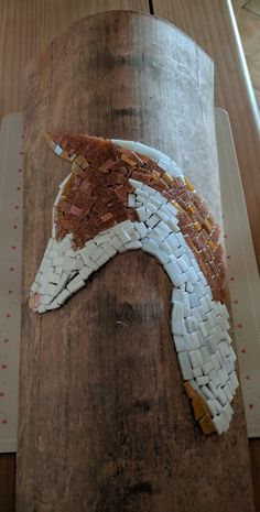 Podenco mosaico on a roof tile by Deb Hinds-Wood