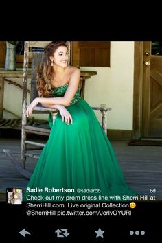 c205c53058a7c love the color Sadie Robertson Live Original by Sherri Hill 11075
