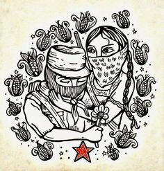 lapinchecanela: Amor y Rebeldía, artist unknown Chicano Studies, Chicano Art, Arte Latina, Zine, Powerful Art, Rocky Horror Picture, Hand In Hand, Arte Popular, Stencil Art