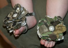 New Baby Hunting Mossy Oak Camo Shoes Sandals. $12.00, via Etsy.