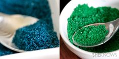 Make your own edible glitter for desserts!