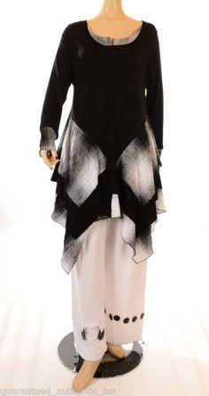 ESCALADYA FANTABULOUS BLACK AND WHITE LAGENLOOK TUNIC L@@K SALE!!! | eBay