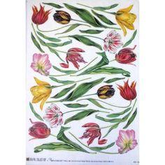 carta di riso per decoupage 33x48 tulipani