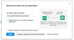 Cómo elegir un destino para las respuestas del formulario - Ayuda de Editores de Documentos