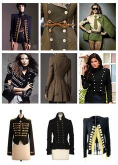 Military Jackets, Designer Jackets, Designer Coats, Military Fashion, Winter Coats,