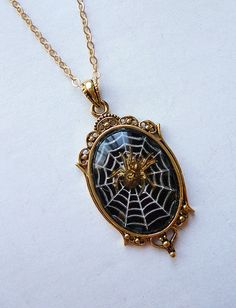 Weave Your Web // Vintage Cameo Spiderweb Cameo by LaPlumeNoir