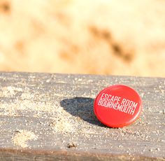 Escape Room Bournemouth Badge down at the Beach for a Gift box photo shoot!
