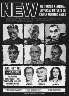 Monster Masks. These are awesome!!