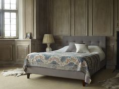 Marais upholstered king size bed in Heat and Dust, £845  http://www.sofa.com/shop/beds/upholstered-beds/marais#230-BLCHEA-0-0