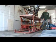 Motorcycle Lift Work at home - YouTube
