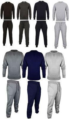 New Mens Distressed Ripped Plain Hooded Sweatshirt Bottom Loungewear Tracksuit