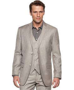 Perry Ellis Blazer, Slim Fit Textured Blazer - Mens Suits & Suit Separates - Macy's Mens Sport Coat, Sport Coats, Hot Men, Hot Guys, Dapper Dan, Cotton Blazer, Perry Ellis, Suit Separates, Blazer
