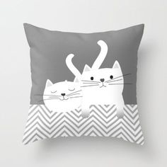 Impresionante Cats Throw Pillow Kittens Personalized small medium by NaraisTap the link to che. Cats Throw Pillow Kittens Personalized s. Cat Lover Gifts, Cat Gifts, Cat Lovers, Crazy Cat Lady, Crazy Cats, Animal Bedroom, Cat Quilt, Cat Art, Decorative Pillows