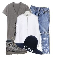 """""""Untitled #3445"""" by stylistbyair ❤ liked on Polyvore featuring Levi's, Lacoste, Acne Studios and Joshua Sanders"""