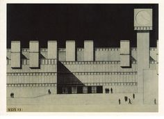 Rafael Moneo, Design for the Amsterdam City Hall via postalesinventadas