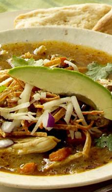 Tex-Mex Chicken Tortilla Soup - Here's the chicken soup cowgirls turn to when they get the blues!