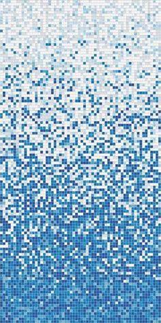 Water effect mosaic tiles for bathroom floor Blue Mosaic, Glass Mosaic Tiles, Mosaic Art, 3d Texture, Tiles Texture, Tile Patterns, Textures Patterns, Pattern Art, Waterline Pool Tile