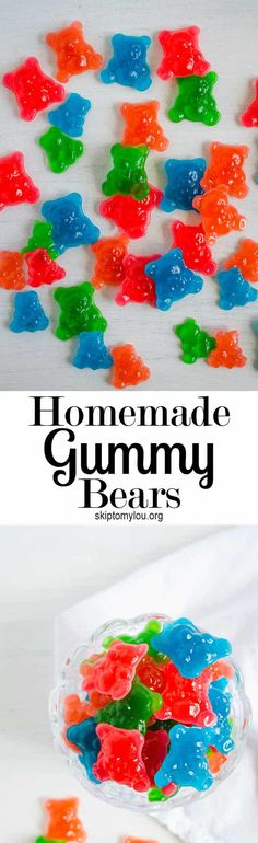 We learned how to make gummy candy and you should try out this recipe. The kids loved making these homemade gummy bears and they were so yummy. Making Gummy Bears, Homemade Gummy Bears, Homemade Candies, Homemade Gummies, Jello Recipes, Candy Recipes, Bar Recipes, Sweet Recipes, Recipies