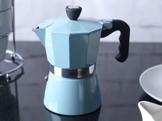 Traditional classic European kitchen artisan espresso maker in a beautiful retro vintage baby blue. - Simple to use, easy to clean - Ensures a full fresh flavor - Designed to bring restaurant quality Best Espresso Machine, Espresso Maker, Espresso Coffee, Best Coffee, Coffee Maker, European Kitchens, Coffee Varieties, Coffee Blog, Blended Coffee