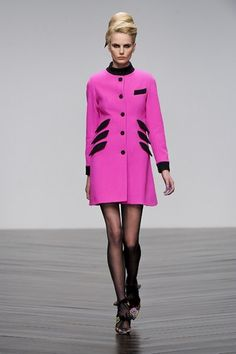 This hot pink PPQ coat is perfect for autumn/winter 2013. You'll look like a fashion forward barbie (in a good way)!