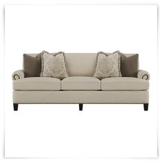 Cassandra Beige Fabric Sofa