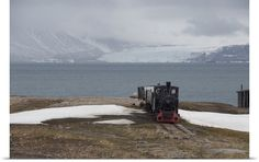 """The end of the line!!?  (This """"slimline"""" gets really narrow, at the edge of the Arctic Circle on the Svalbard Islands, Norway)"""