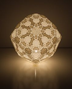 New York artist and designer, Robert Debbane, creates stunning lamps using 3D printing technology. Applying the same technique as variable-depth pumpkin ca
