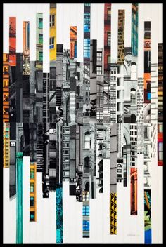Patchwork City 65 by Marilyn Henrion : Other media Collage on Canvas - Singulart Patchwork City 65 by Marilyn Henrion : Other media Collage on Canvas - Singulart Patchwork City 65 by Marilyn Henrion : Painting Collage - Singulart<br> Collage Kunst, City Collage, Painting Collage, Map Collage, Canvas Collage, City Painting, Collage Artwork, Collage Ideas, Photomontage