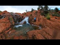 It's a unique year for spring runoff when water flows over a spillway at Utah's Gunlock State Park and creates multiple waterfalls in the red rock formations. Zion National Park, National Parks, Stuff To Do, Things To Do, St George Utah, Water Sources, Santa Clara, Road Trippin, Waterfalls