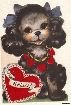 Black Cocker Valentines Card