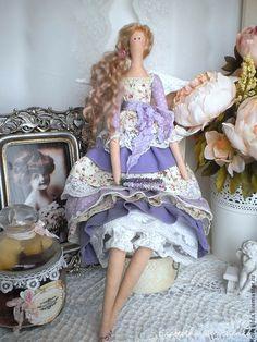 """Купить """"Лавандовый ангел"""" в стиле Тильда (по мотивам """"Lavender"""") - сиреневый, тильда, кукла Тильда"""