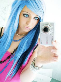 blue emo scene hair style sitemodel bibi barbaric from germany by ♥ BiBi BaRbArIc ♥, via Flickr