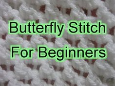 Butterfly Stitch Increase and Decrease - Left Handed Slow Motion Crochet