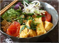 Easy authentic recipe for Bun Rieu Cua Vietnamese Crab Noodle Soup Vietnamese Street Food, Vietnamese Soup, Vietnamese Grilled Pork, Vietnamese Cuisine, Vietnamese Recipes, Asian Recipes, Healthy Recipes, Asian Foods, Yummy Recipes